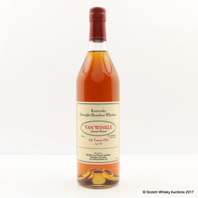 """Van Winkle Special Reserve Lot """"B"""" 12 Year Old Bourbon 75cl"""