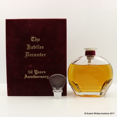 Speyside 25 Year Old Glass Decanter For Golden Jubilee