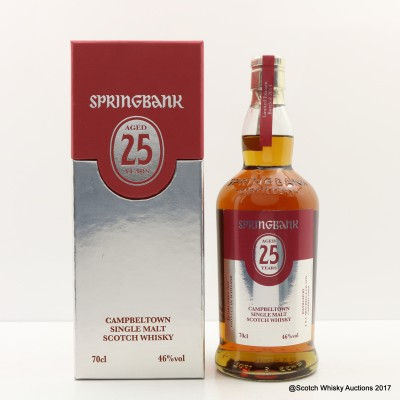 Springbank 25 Year Old 2014 Release