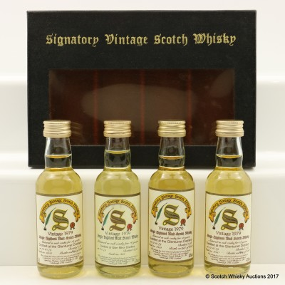 Signatory Mini Set 4 x 5cl Including Glen Mhor 1979 16 Year Old 5cl