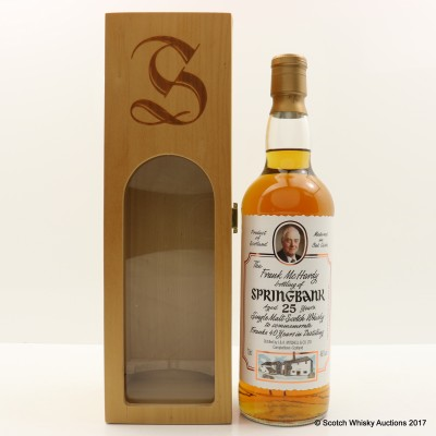Springbank 25 Year Old Frank McHardy Bottling