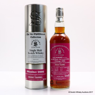 Glenlivet 2006 11 Year Old Signatory Selected For Whisky Barrel 10th Anniversary