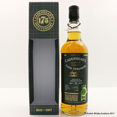 Tormore 1984 33 Year Old Cadenhead's