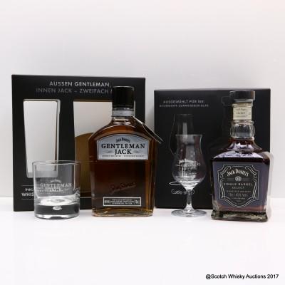 Jack Daniel's Gentleman Jack & Jack Daniel's Single Barrel Gift Sets 2 x 70cl