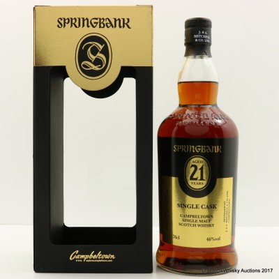 Springbank 1995 21 Year Old Single Cask Open Day 2017
