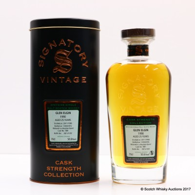 Glen Elgin 1990 25 Year Old Signatory