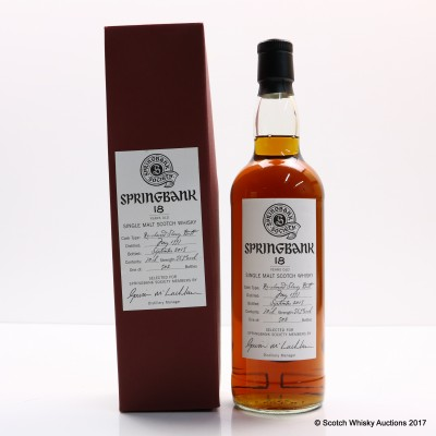 Springbank 1997 18 Year Old Society Bottling