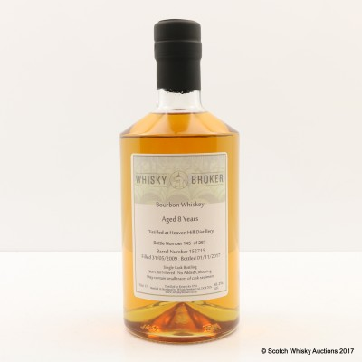 Heaven Hill 2009 8 Year Old Whisky Broker