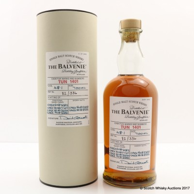 Balvenie Tun 1401 Batch #1 (RESHOOT BOTTLE FILL LEVEL FOR RELISTING)