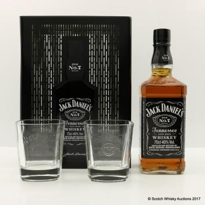 Jack Daniel's Gift Tin With 2 Glasses