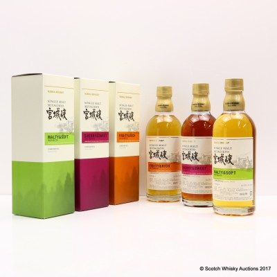 Nikka Miyagikyo Distillery Exclusive Set 3 x 50cl