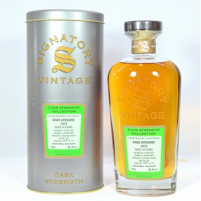 Rare Ayrshire 1975 34 Year Old Cask Strength