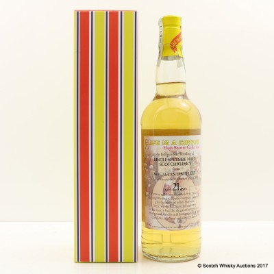 Macallan 1993 21 Year Old High Spirits Collection 'Life is a Circus'