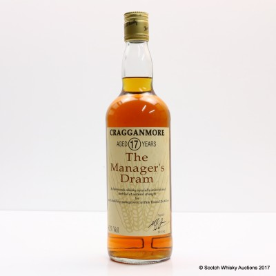 Manager's Dram Cragganmore 17 Year Old 75cl
