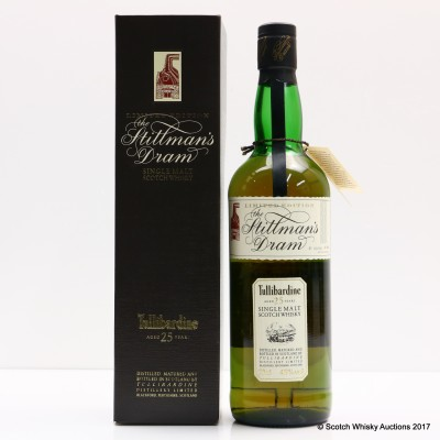 Tullibardine 25 Year Old Stillman's Dram Bottle #888
