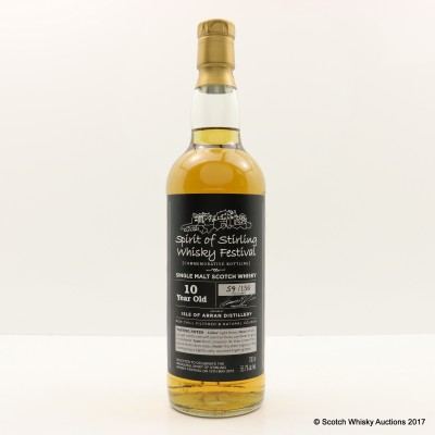 Arran 10 Year Old Spirit Of Stirling Whisky Festival 2012