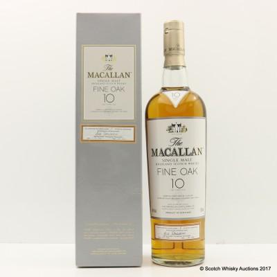 Macallan 10 Year Old Fine Oak - First 100 Bottles - Number 1