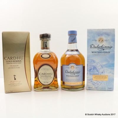 Cardhu Gold Reserve & Dalwhinnie Winter's Gold 2 x 70cl