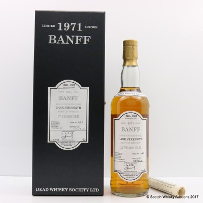 Banff 1971 37 Year Old Dead Whisky Society
