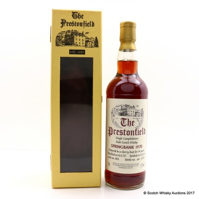 Springbank 1970 34 Year Old Prestonfield