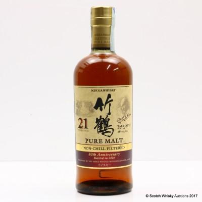 Nikka Taketsuru Pure Malt 21 Year Old Non-Chill Filtered 80th Anniversary