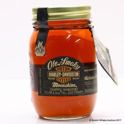 Ole Smoky Harley Davidson Charred Moonshine Commemorative Jar 50cl