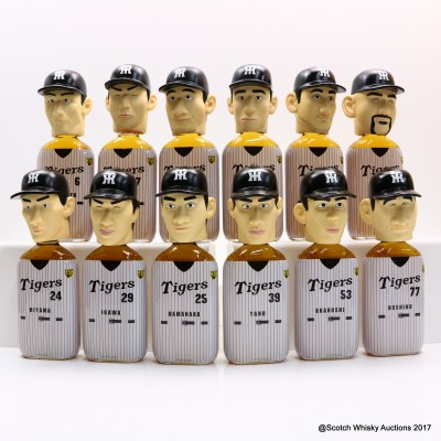 Hanshin Tigers Baseball Team Whisky Head 2003 Full Set 12 x 36cl
