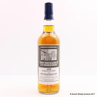 Ben Nevis 1970 Berry Bros & Rudd Selected For La Maison du Whisky