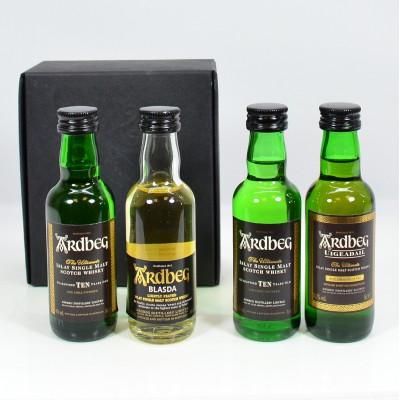 Ardbeg 10 Year Old x2, Ardbeg Blasda Limited Release & Uigeadail Minis