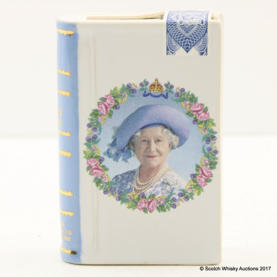 Rutherford's 100th Birthday Of The Queen Mother Mini Ceramic Book Decanter 5cl