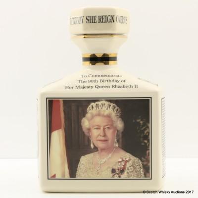 Ben Nevis 10 Year Old 90th Birthday Of Queen Elizabeth II Pointer's Ceramic Decanter