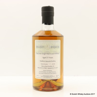 Speyside 1995 20 Year Old Whisky Broker