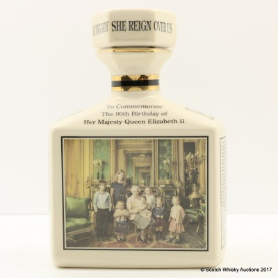 Ben Nevis 10 Year Old 90th Birthday Of Queen Elizabeth II Pointer's Ceramic Decanter