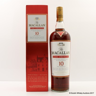 Macallan 10 Year Old Cask Strength 1L
