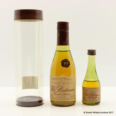 Balvenie 10 Year Old Founder's Reserve Cognac Bottle 20cl & 5cl