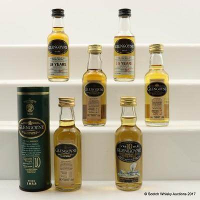 Assorted Glengoyne Minis 6 x 5cl Including Glengoyne 21 Year Old