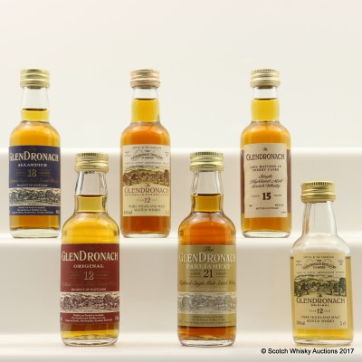 Assorted GlenDronach Minis 6 x 5cl Including GlenDronach 21 Year Old Parliament