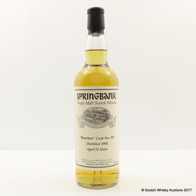 Springbank 1992 25 Year Old Private Cask