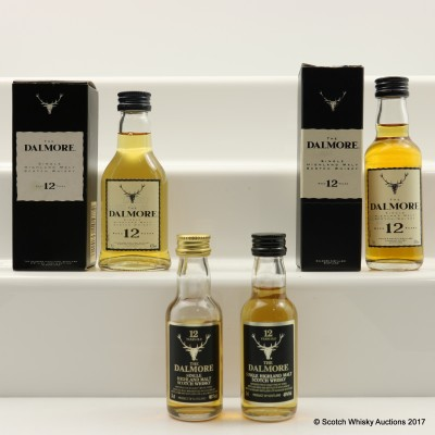 Assorted Dalmore 12 Year Old Minis 4 x 5cl