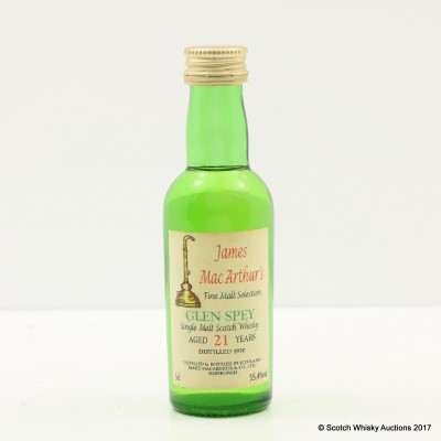 Glen Spey 1970 21 Year Old James McArthur's Mini 5cl