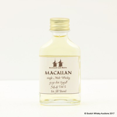 Macallan 1998 9 Year Old Dewar Rattray Mini 2cl