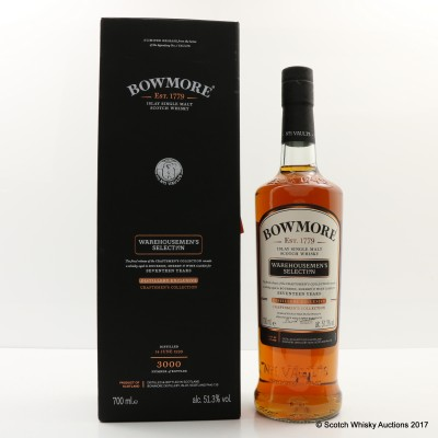Bowmore 17 Year Old Warehouseman's Selection Distillery Exclusive