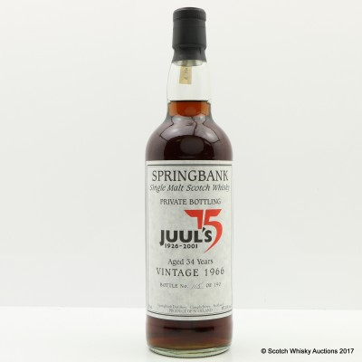 Springbank 1966 34 Year Old for Juul's 75th Anniversary