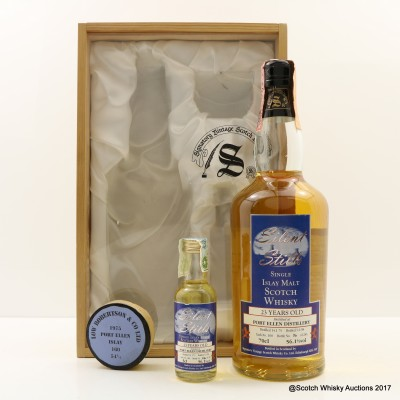 Port Ellen 1975 23 Year Old Silent Stills Signatory With Matching Mini 5cl