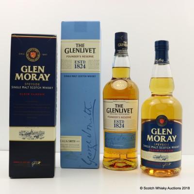 Glen Moray Elgin Classic & Glenlivet Founder's Reserve 2 x 70cl