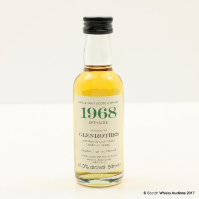 Glenrothes 1968 41 Year Old Duncan Taylor Mini 5cl