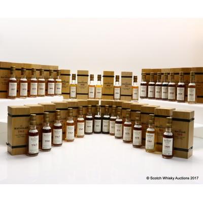Macallan Fine & Rare Collection Minis 32 x 5cl