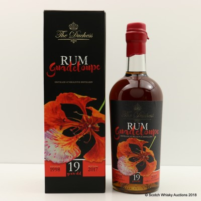 Bellevue 1998 19 Year Old Guadeloupe Rum The Duchess