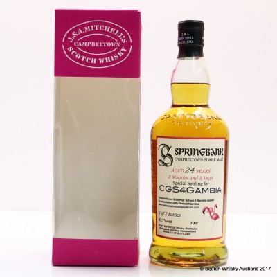 Springbank 24 Year Old For CGS4 Gambia Appeal