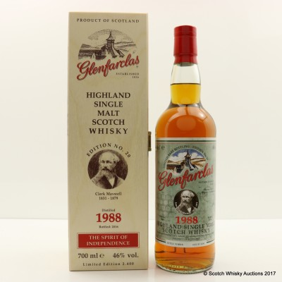 Glenfarclas 1988 Spirit Of Independence Edition #20 James Clerk Maxwell